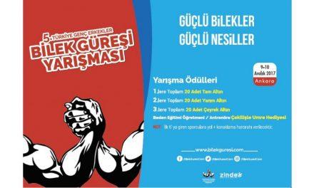 5.Türkiye Genç Erkekler Bilek Güreşi Yarışması Hazırlıkları Devam Ediyor…