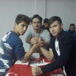 Pursaklar Kocalar Anadolu İmam Hatip Lisesi'nde Bilek Güreşi Tanıtım Turnuvası Yapıldı.