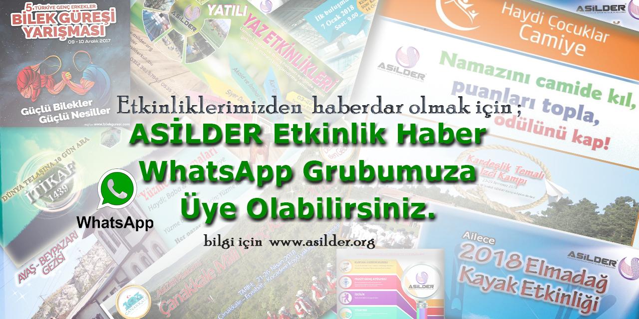 ASİLDER ETKİNLİK HABER WhatsApp Grubuza Üye Olabilirsiniz