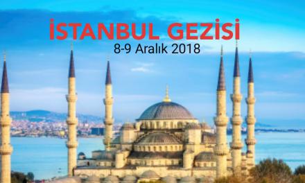 Gençlerimizle 8 – 9 Aralık'ta İstanbul'a Gidiyoruz.
