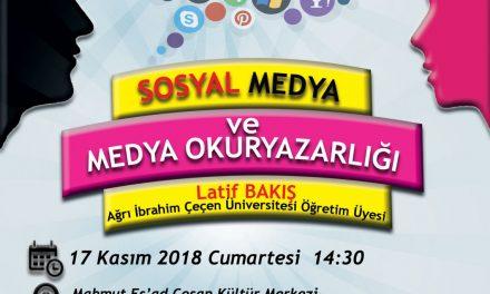 """""""Sosyal Medya ve Medya Okuryazarlığı"""" Seminerine Davetlisiniz."""