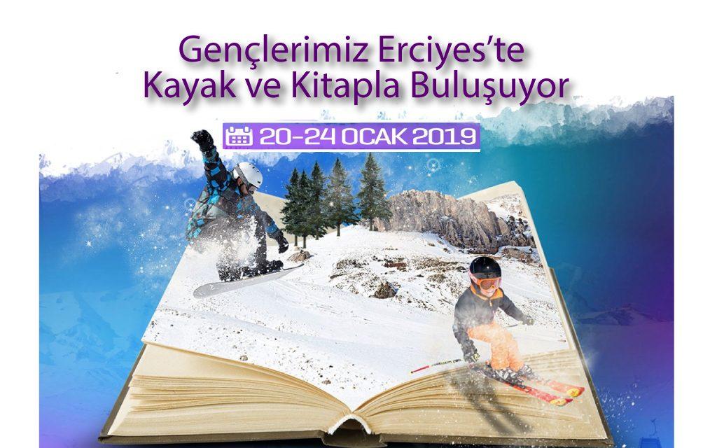 Gençlerimiz Erciyes'te Kayak ve Kitapla Buluşuyor